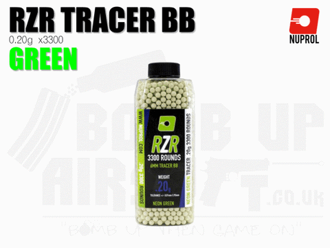 Nuprol RZR Precision Tracer BB's 0.20g Green