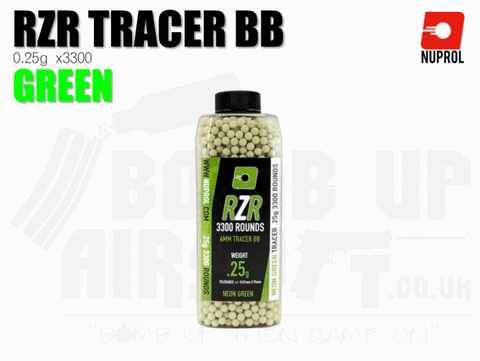 Nuprol RZR Precision Tracer BB's 0.25g Green