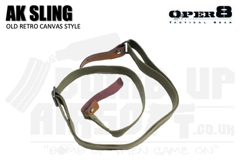 Oper8 Retro Canvas 2 Point AK Sling - OD Green