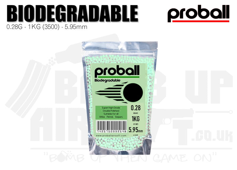 Proball BIO 0.28g Bag 3500 High Quality Airsoft BBs