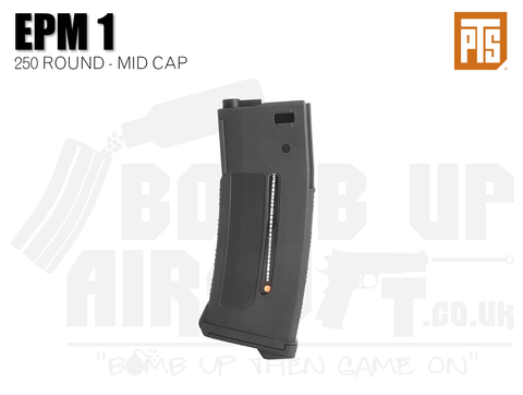 PTS Enhanced Polymer Magazine One (EPM1 AEG) - Black - 250rds