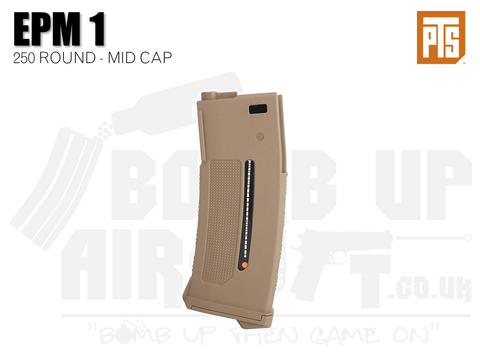 PTS Enhanced Polymer Magazine One (EPM1 AEG) - Tan - 250rds