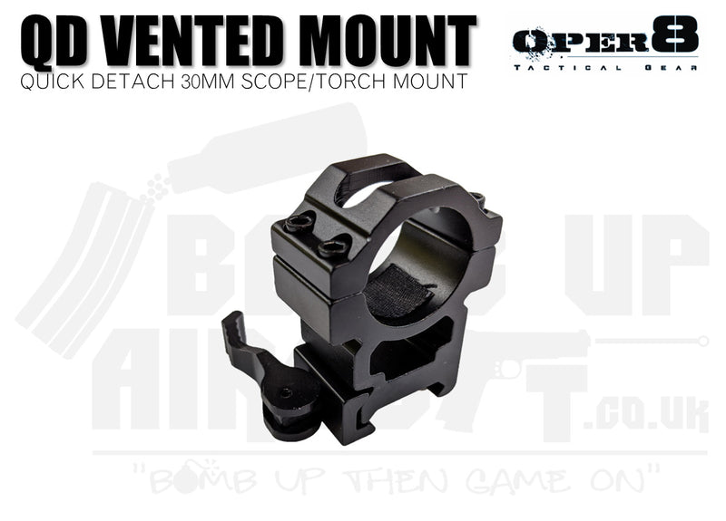 Oper8 30mm Vented Scope/Torch Mount - High