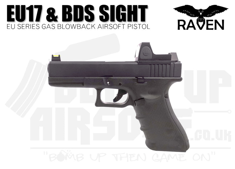 Raven EU17 With BDS GBB Airsoft Pistol - Black