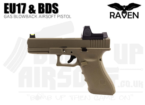 Raven EU17 With BDS GBB Airsoft Pistol - Tan