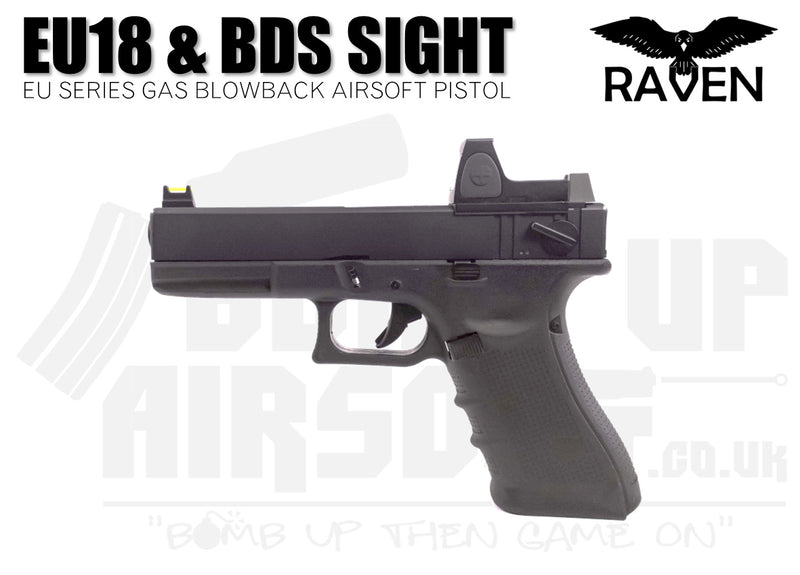 Raven EU18 With BDS GBB Airsoft Pistol - Black
