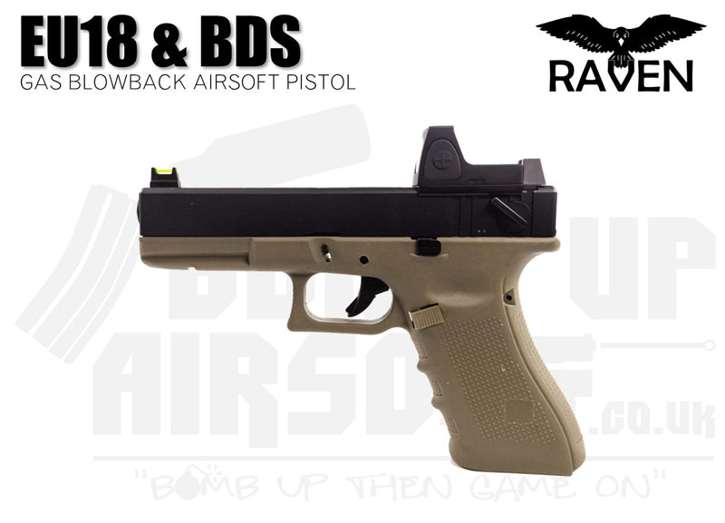 Raven EU18 With BDS GBB Airsoft Pistol - Tan