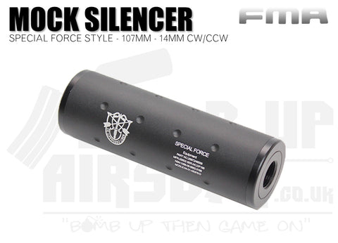 FMA + / - 14mm 107mm Silencer - Special Force Logo
