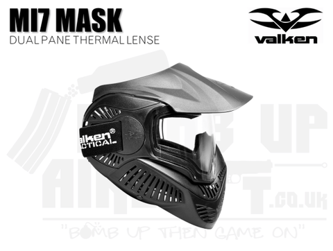 Valken MI-7 Goggle/Mask with Dual Pane Thermal Lens - Black