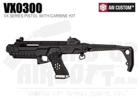 Armorer Works Custom VX Airsoft Pistol With Tactical Carbine Conversion Kit