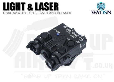 WADSN DBAL-A2 Flashlight and Red/IR Laser - Black