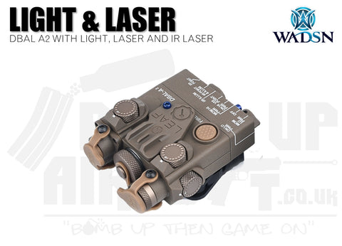 WADSN DBAL-A2 Flashlight and Red/IR Laser - Tan