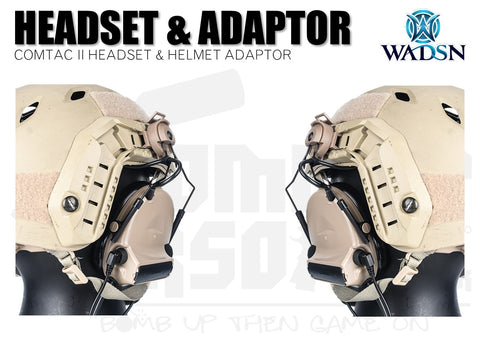 WADSN Comtac II (Basic) Headset With Helmet Adaptor - DE