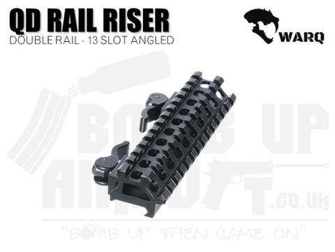 WARQ Double Rail 13 Slot Angle Mount - Quick Detach