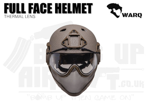WARQ Full Face Helmet - Tan Raptor