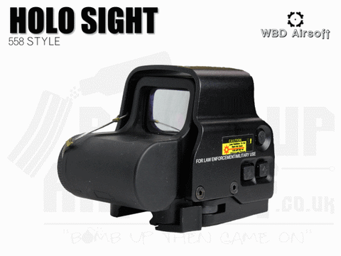 WBD Airsoft Holo Sight 558 Style With QD Mount
