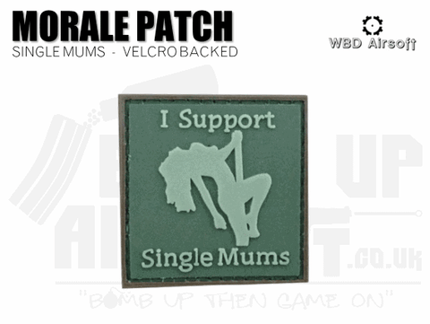 I Support Single Mums Patch - Green