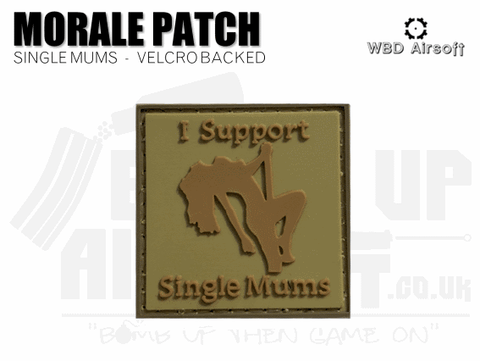 I Support Single Mums Patch - Tan