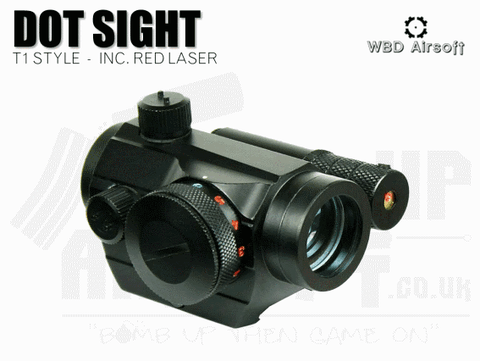 T1 STYLE AIRSOFT SIGHT WITH LASER