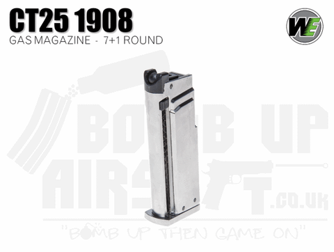 WE Airsoft CT25 1908 7+1 Round GBB Mag