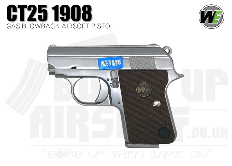 WE Airsoft CT25 1908 GBB Airsoft Pistol - Silver