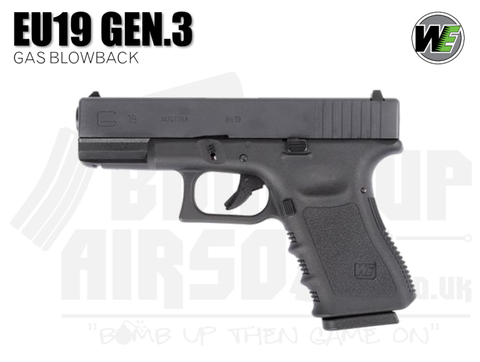 WE EU19 Gen 3 GBB Airsoft Pistol
