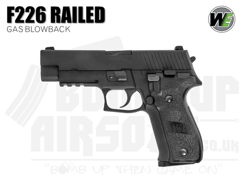 WE F226 Railed GBB Airsoft Pistol