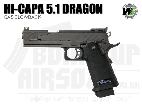 WE Hi-Capa 5.1 - Dragon Type A GBB Airsoft Pistol