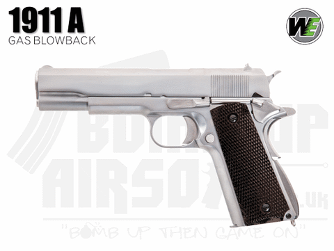 WE 1911 - A - Silver GBB Airsoft Pistol