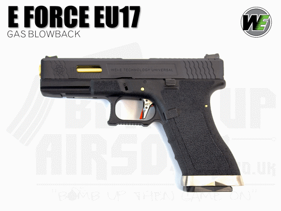 WE E-Force EU17 - Black Slide / Gold Barrel - GBB Airsoft Pistol