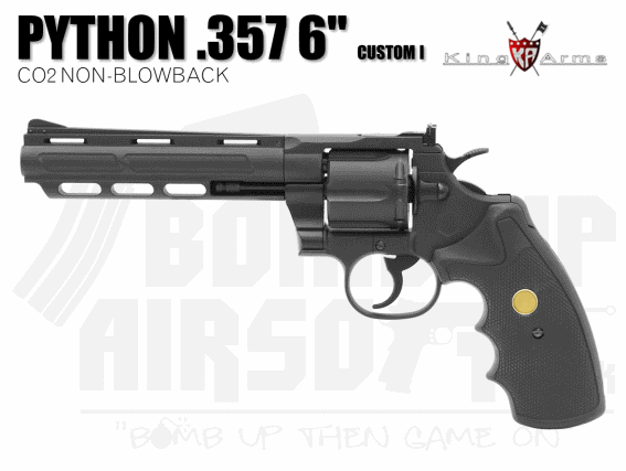 "King Arms 6"" Python 357 Airsoft Revolver"