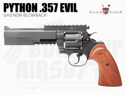 King Arms Python .357 Evil Gas Revolver