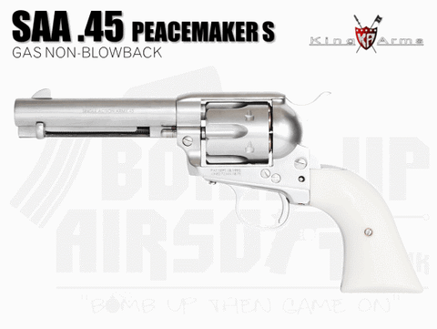 King Arms SAA .45 Peacemaker Revolver S - Silver