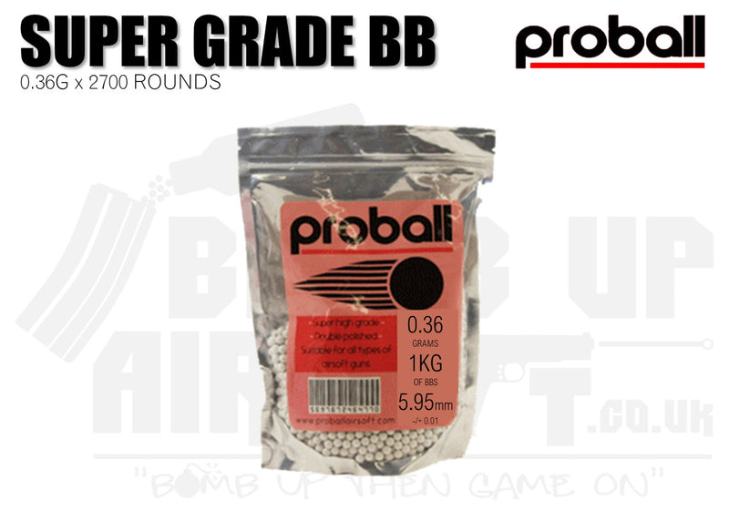 Proball 0.36g Bag 2700 High Quality Airsoft BBs