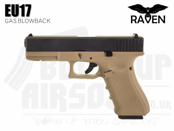 Raven EU17 Gas Blowback Airsoft Pistol Tan