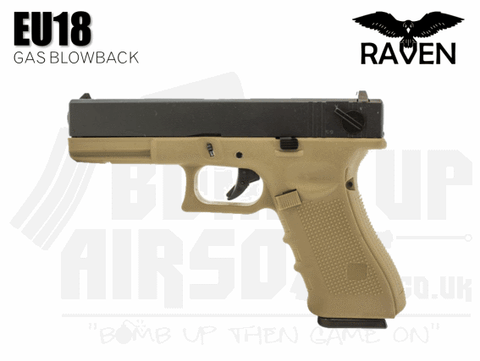 Raven EU18 Gas Blowback Airsoft Pistol Tan