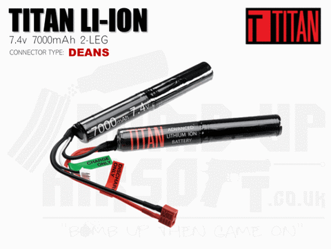 Titan Power 7.4v 7000mah 2leg Li-Ion Battery
