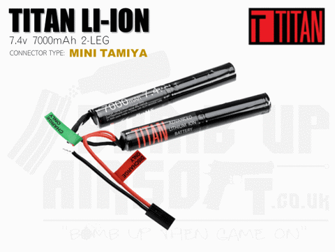 Titan Power 7.4v 7000mah 2leg Li-Ion Battery - Mini Tamiya