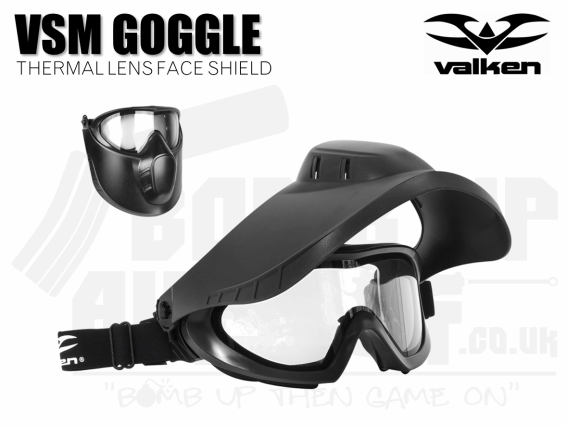VALKEN VSM THERMAL FACE SHEILD - BLACK