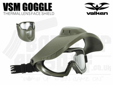 VALKEN VSM THERMAL FACE SHEILD - OLIVE GREEN