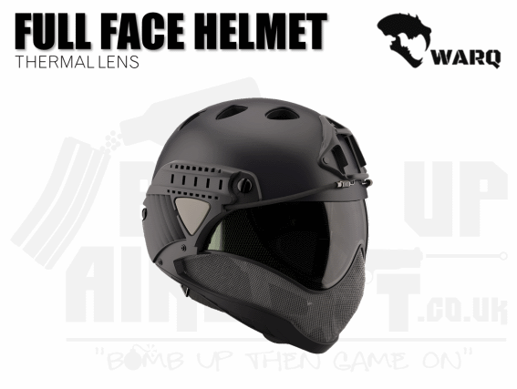 WARQ Full Face Helmet - Black