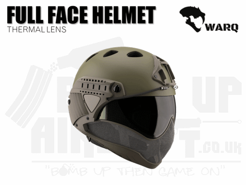 WARQ Full Face Helmet - OD Green