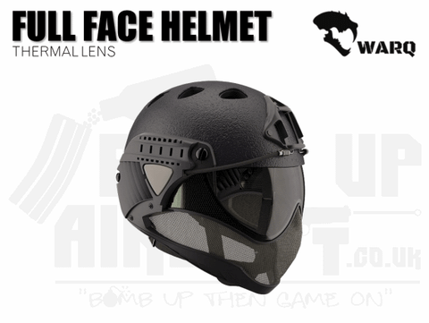 WARQ Full Face Helmet - Black Raptor
