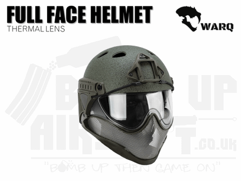WARQ Full Face Helmet - Green Raptor