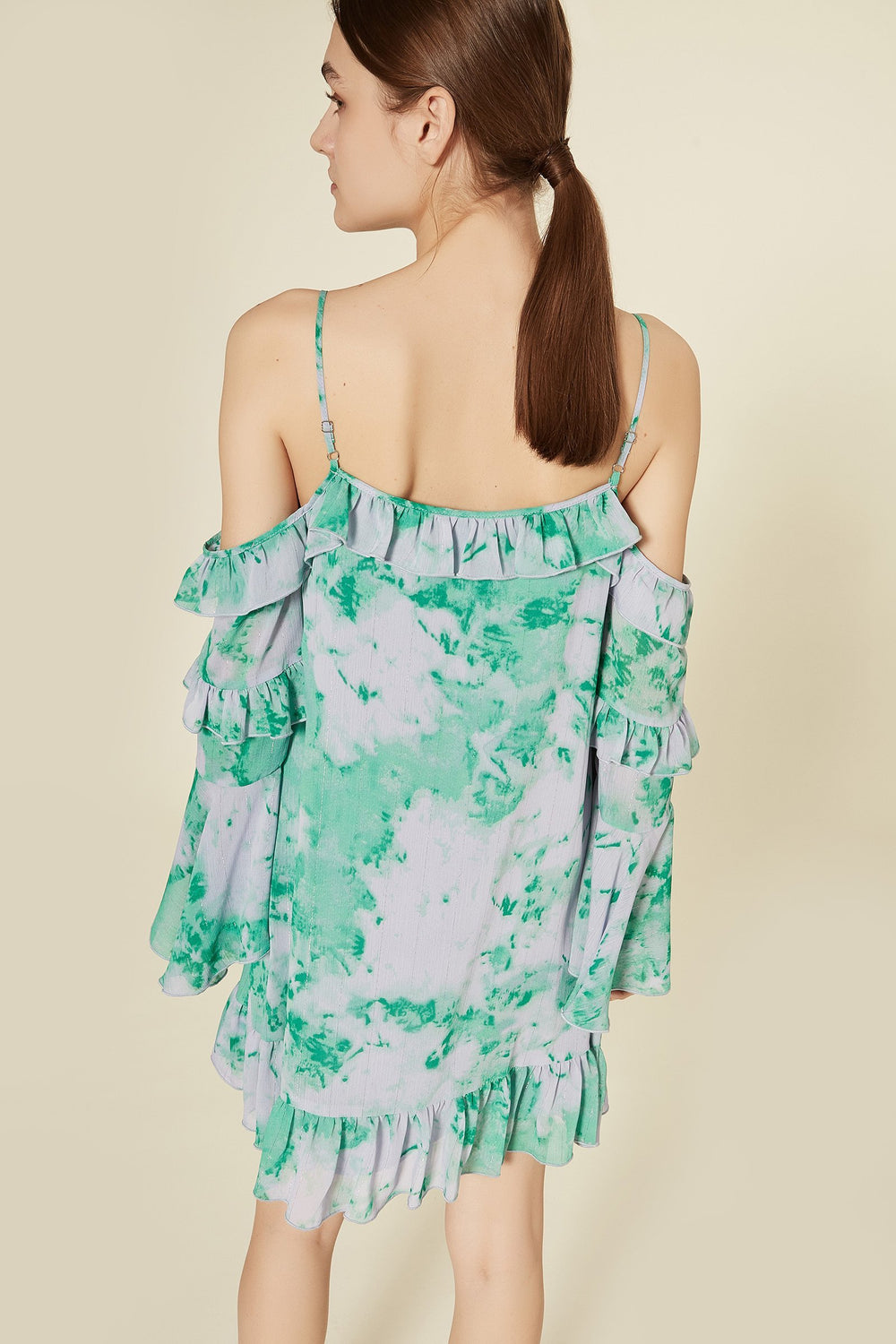 product-color-KELLY GREEN AND LILAC TIE DYE PRINT