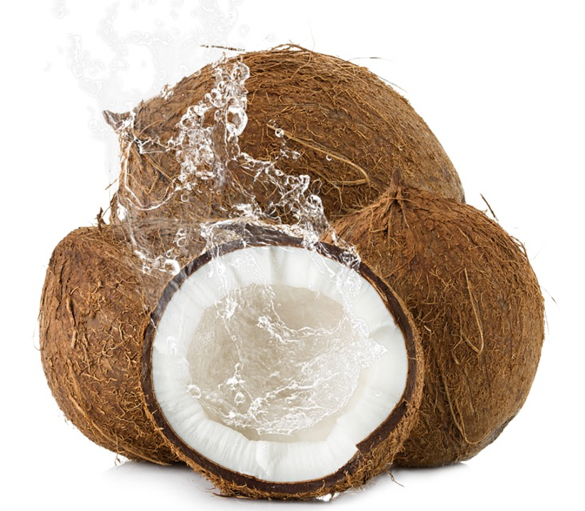 coconuts water splashing out
