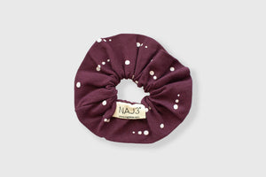 Scrunchie - BURGUNDY DOTS