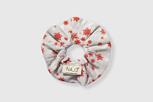 Scrunchie - Red Snowflake