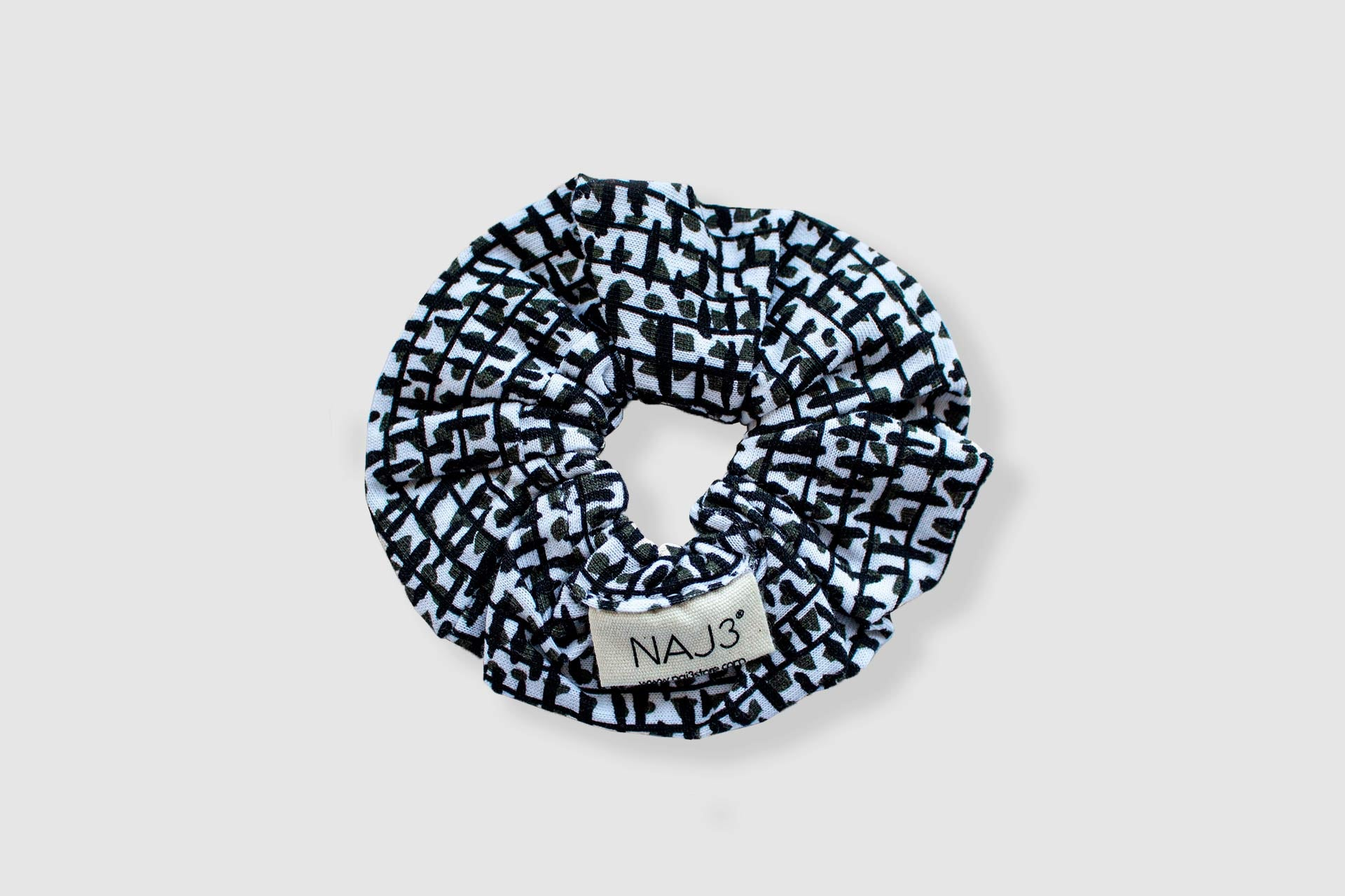 Scrunchie - Splash Khaki&Black