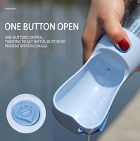 Portable Pet Water Bottle One Button Open